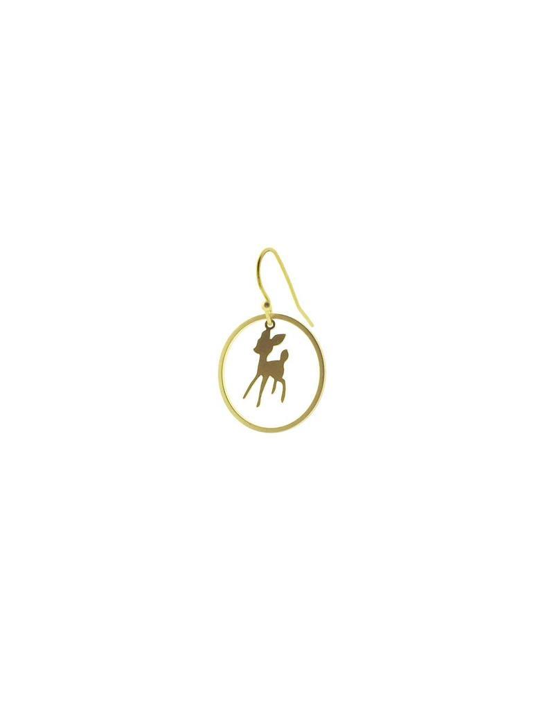 oorbEllen mix&match bambi cirkel mat goud