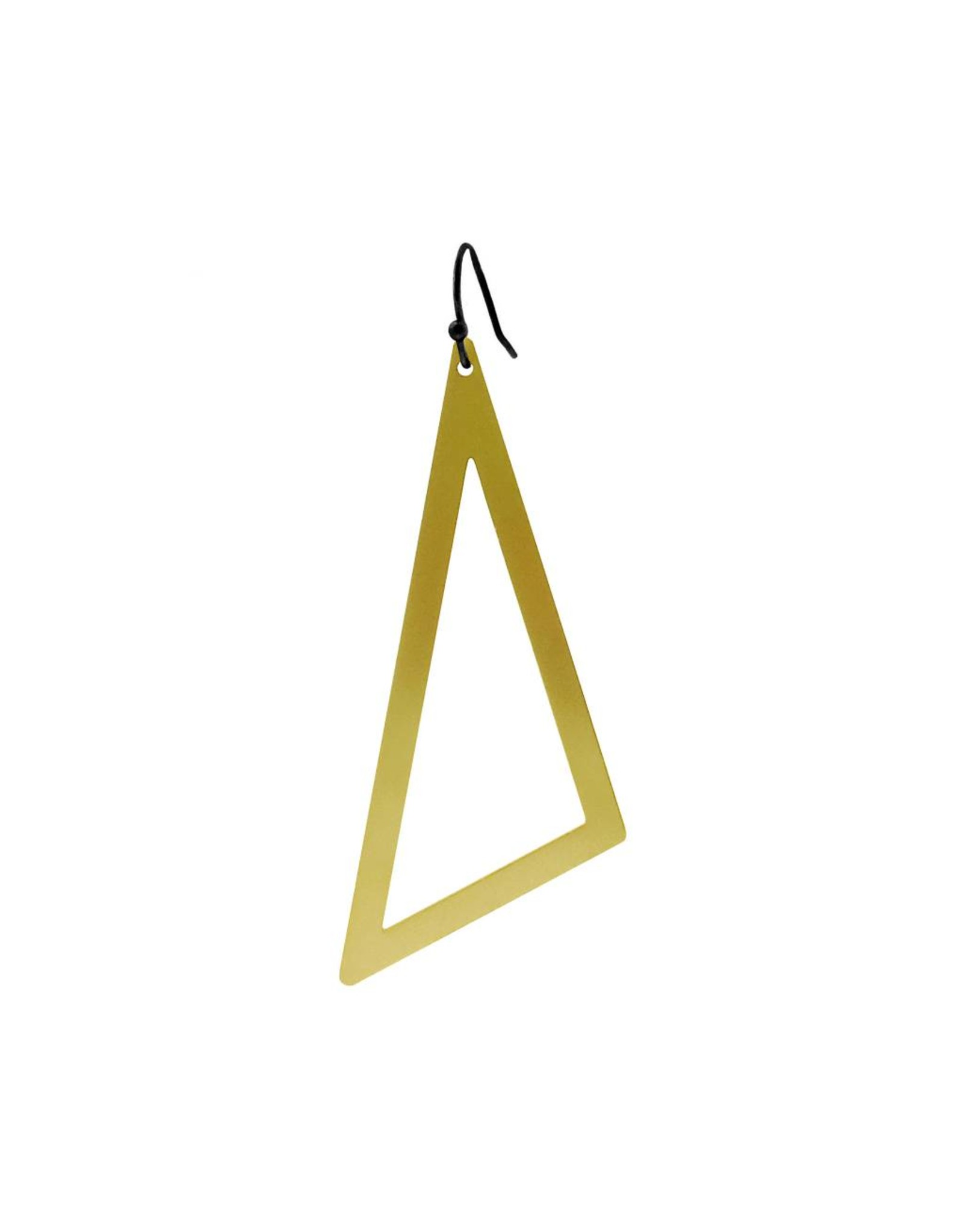 oorbEllen mix&match driehoek XL mat goud kort zwart