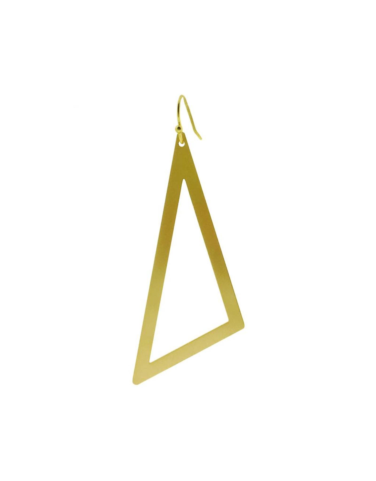 oorbEllen mix&match driehoek XL mat goud kort goud