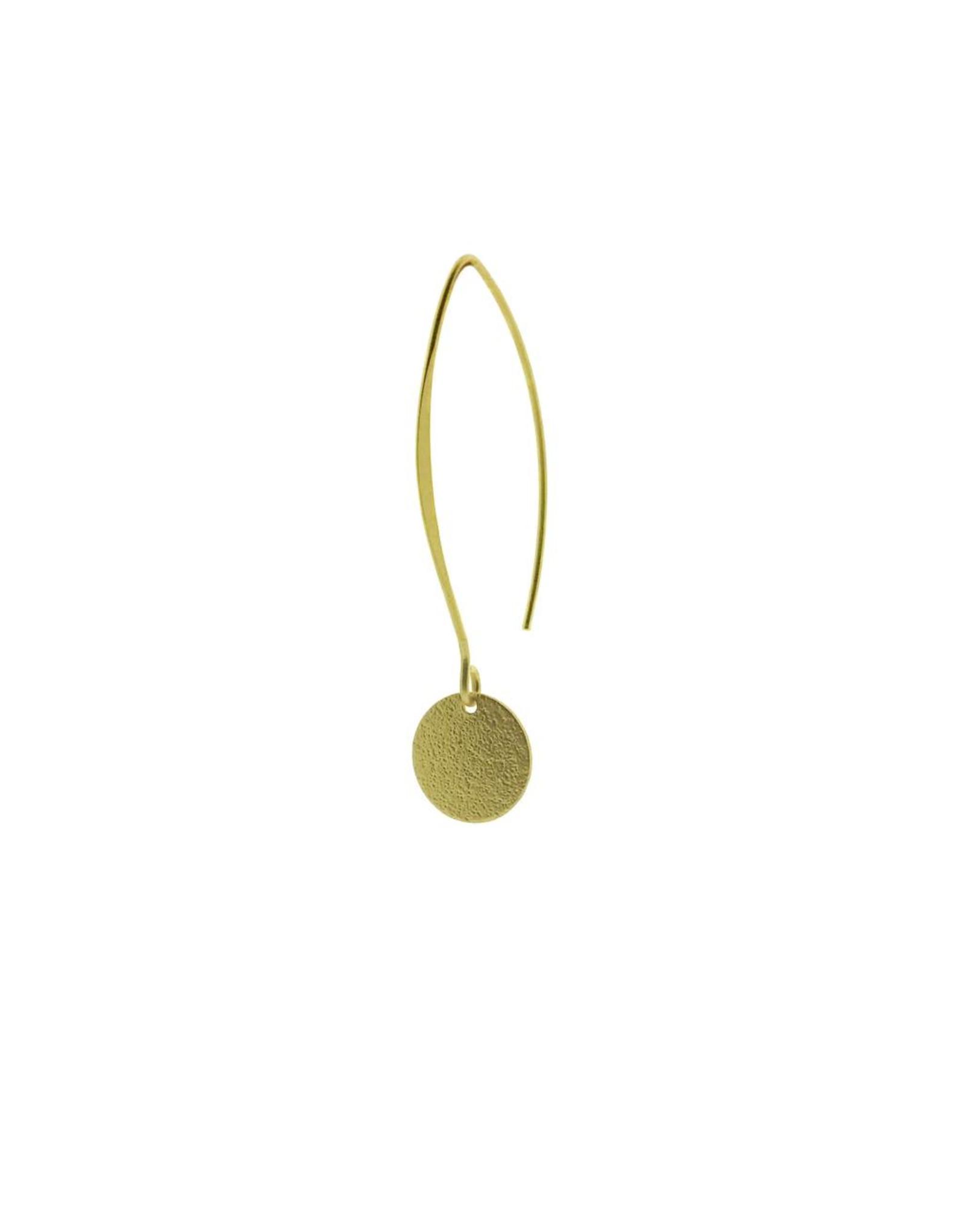 oorbEllen mix&match cirkel klein vol mat goud lang goud