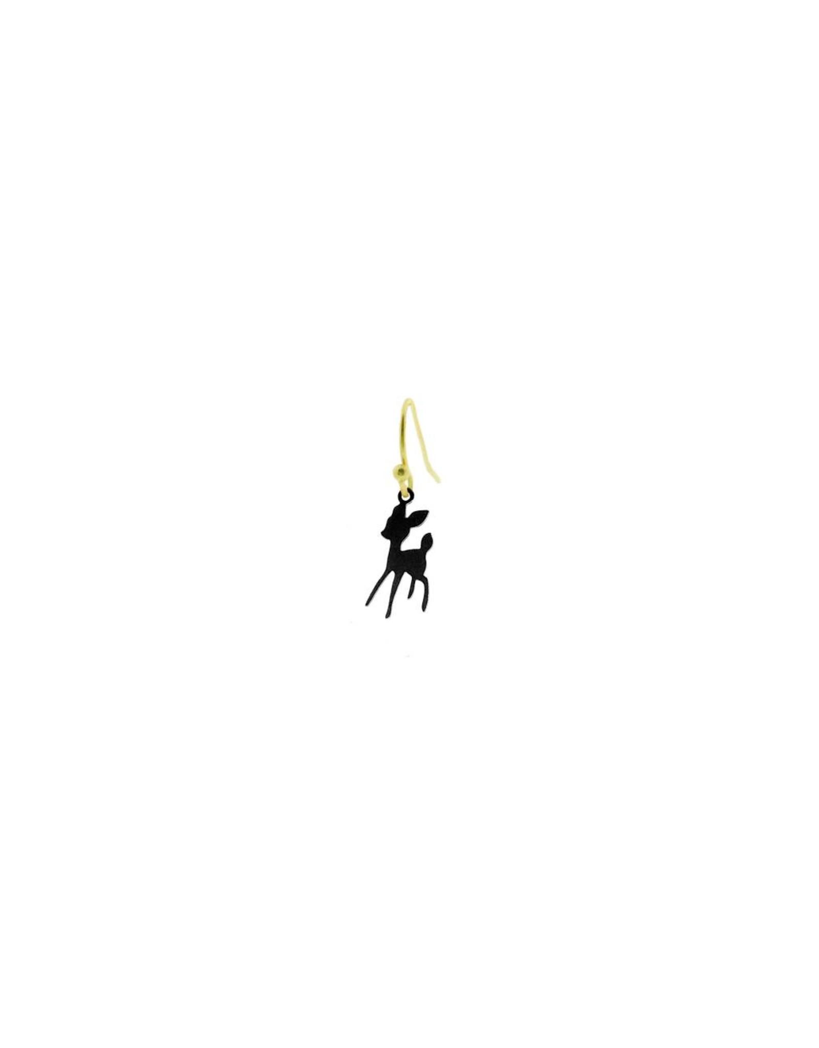 oorbEllen mix&match bambi mat zwart kort goud