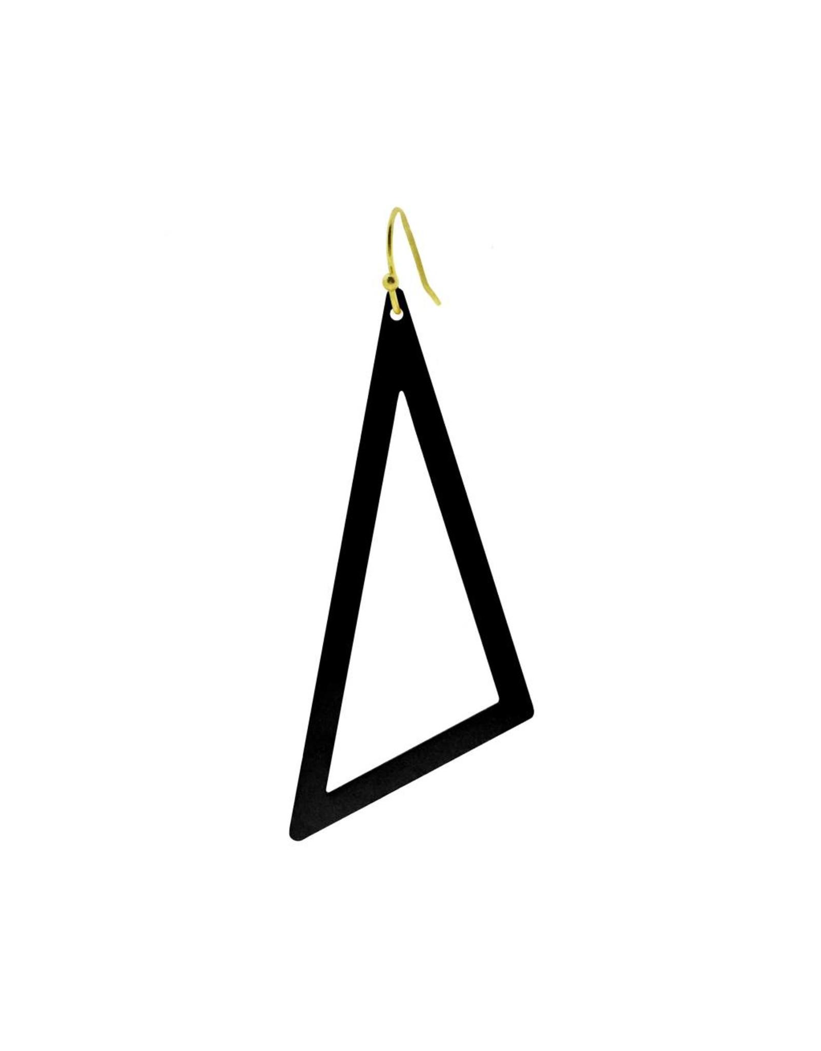 oorbEllen mix&match driehoek XL mat zwart kort goud