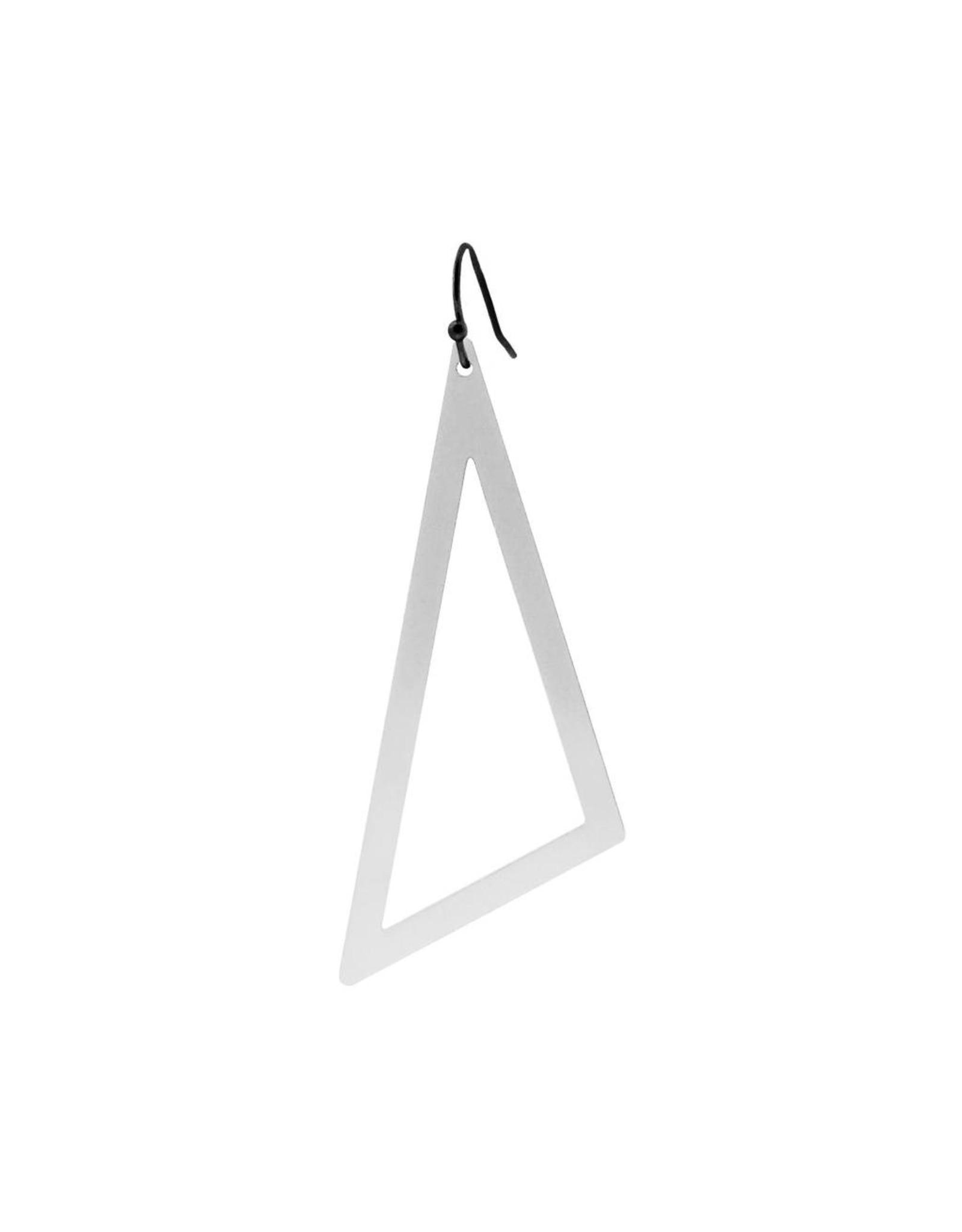 oorbEllen mix&match driehoek XL mat zilver kort zwart