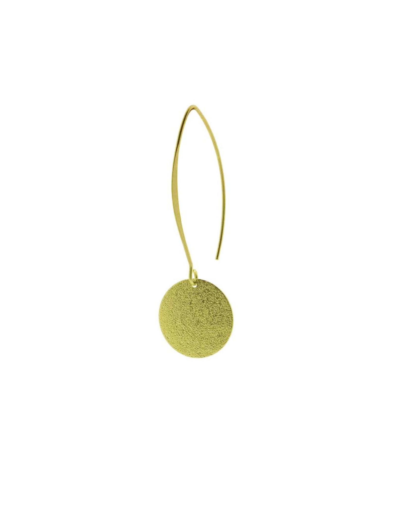 oorbEllen mix&match cirkel vol mat goud lang goud