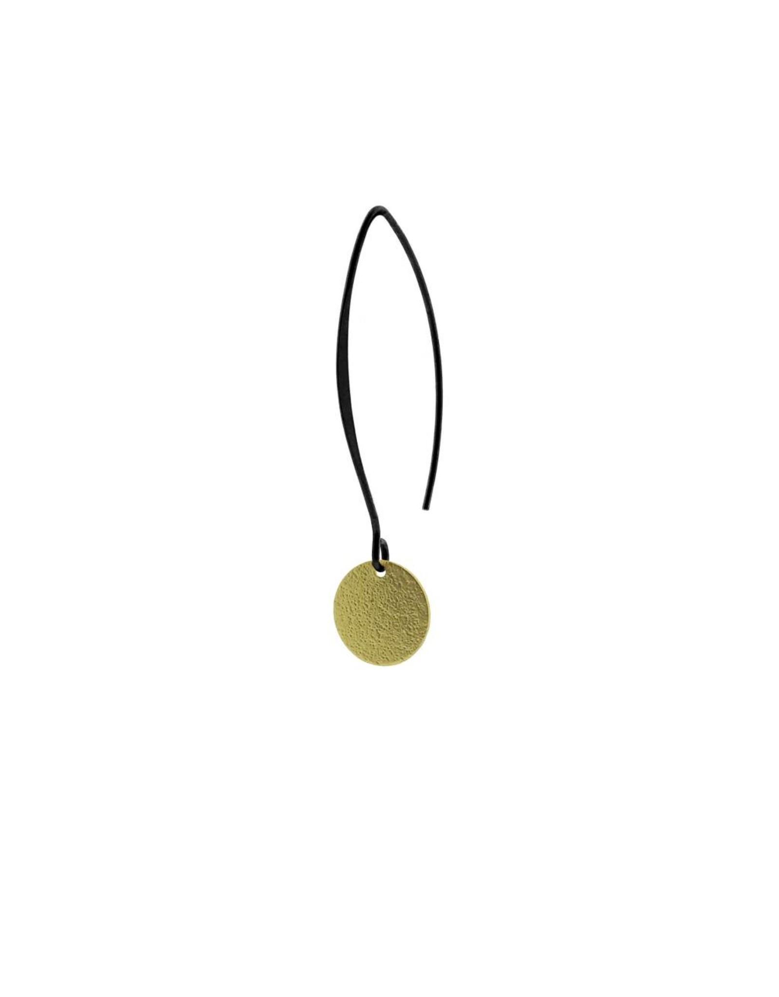 oorbEllen mix&match cirkel klein vol mat goud lang zwart