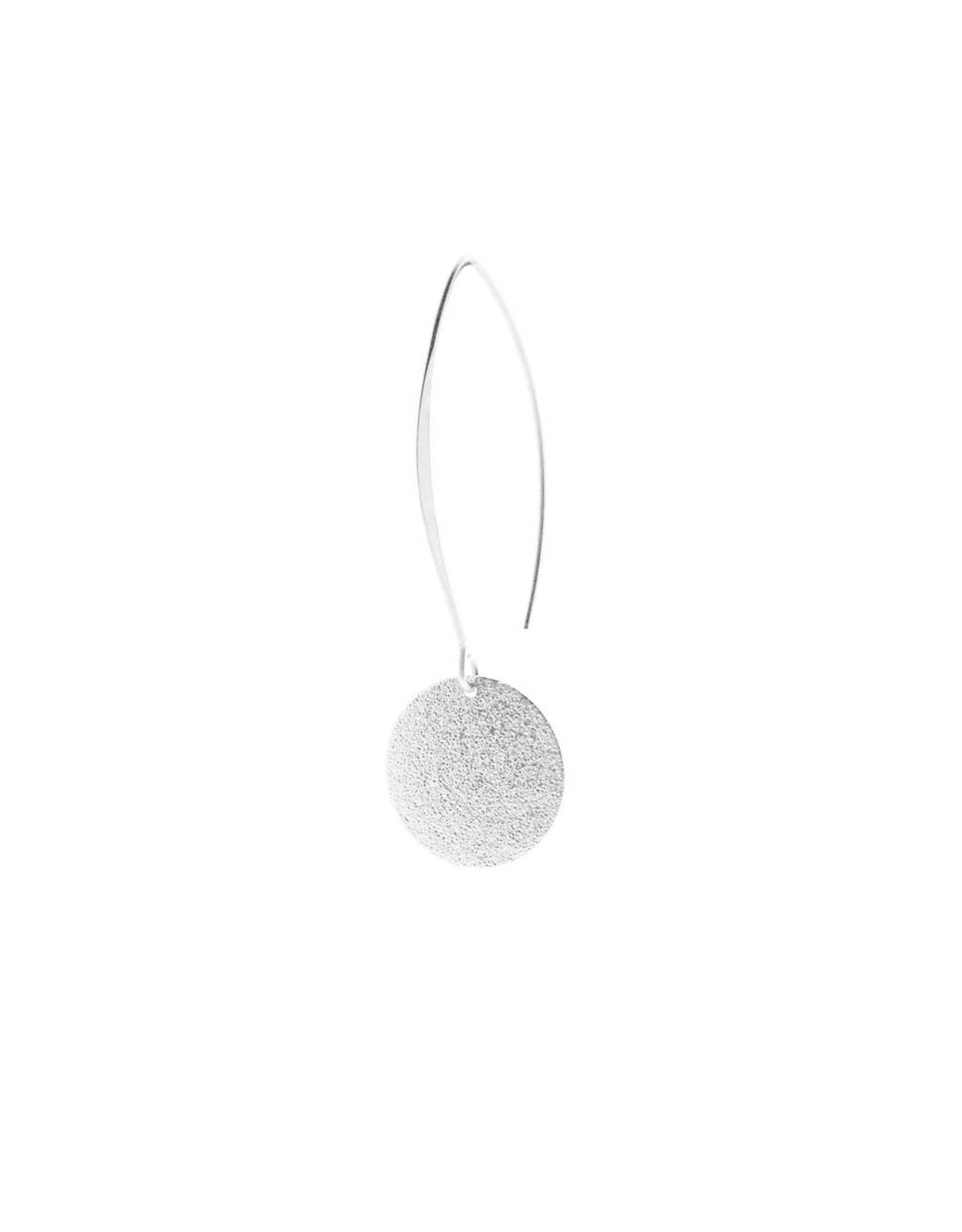 oorbEllen mix&match cirkel vol mat zilver lang zilver