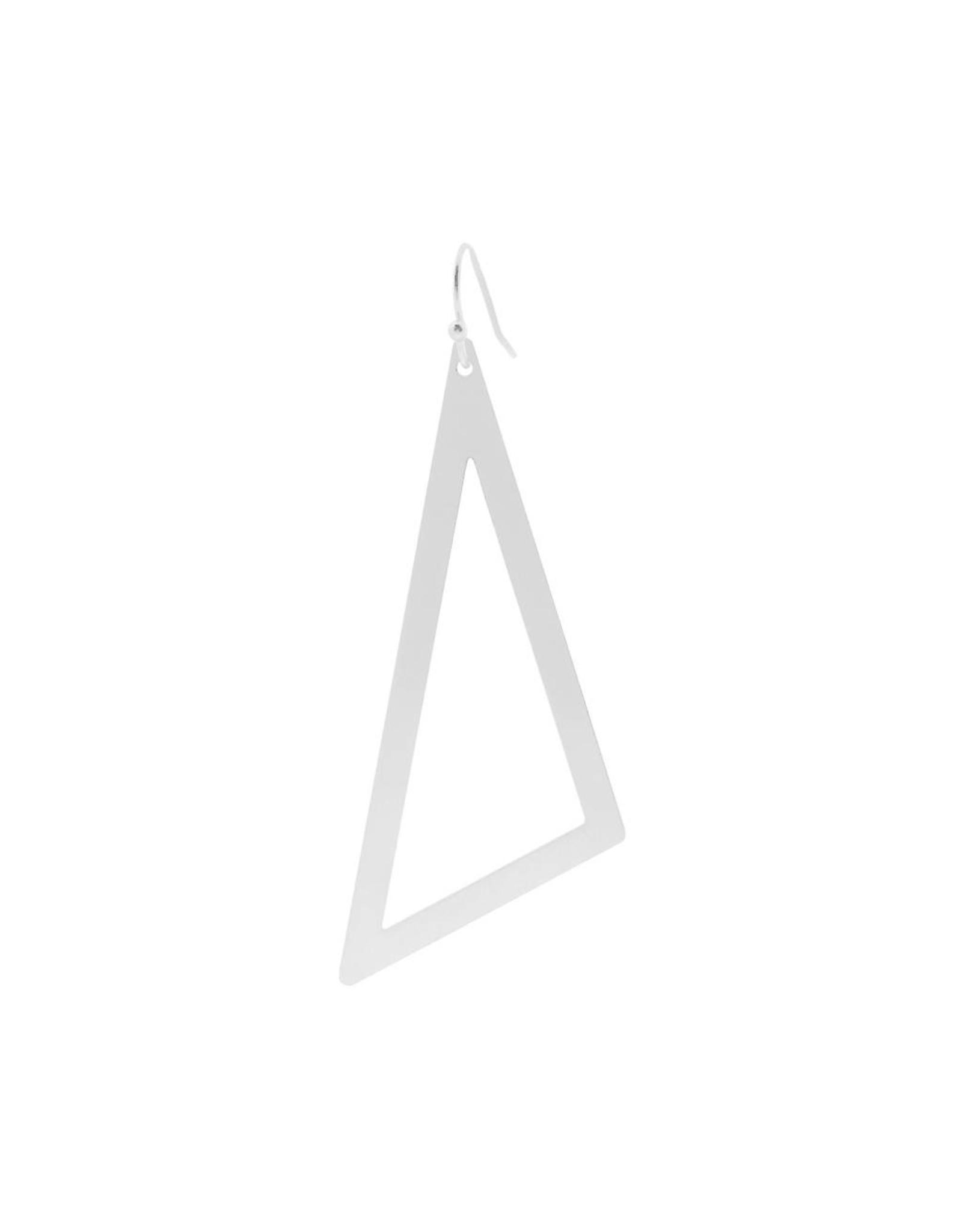 oorbEllen mix&match driehoek XL mat zilver kort zilver
