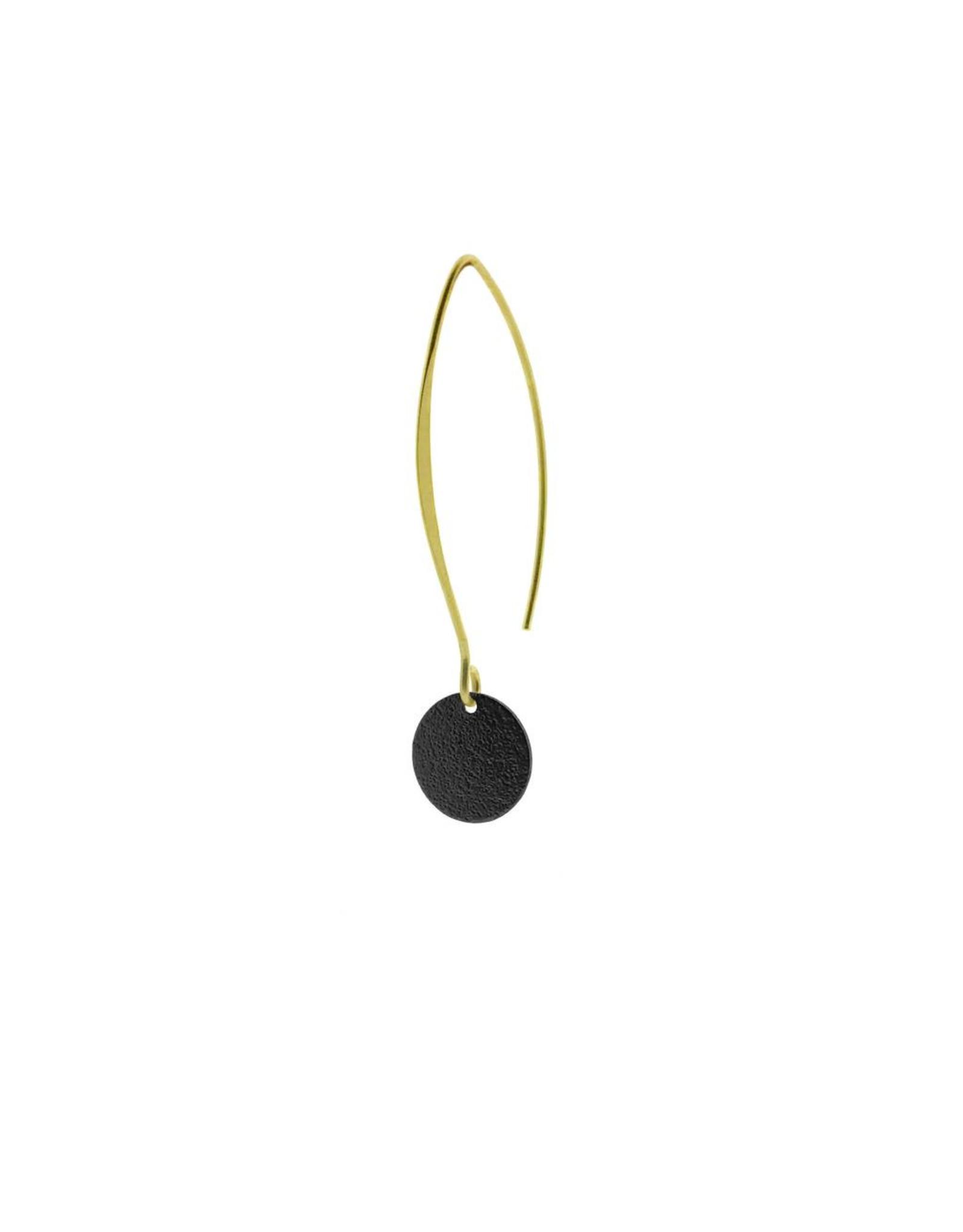 oorbEllen mix&match cirkel klein vol mat zwart lang goud