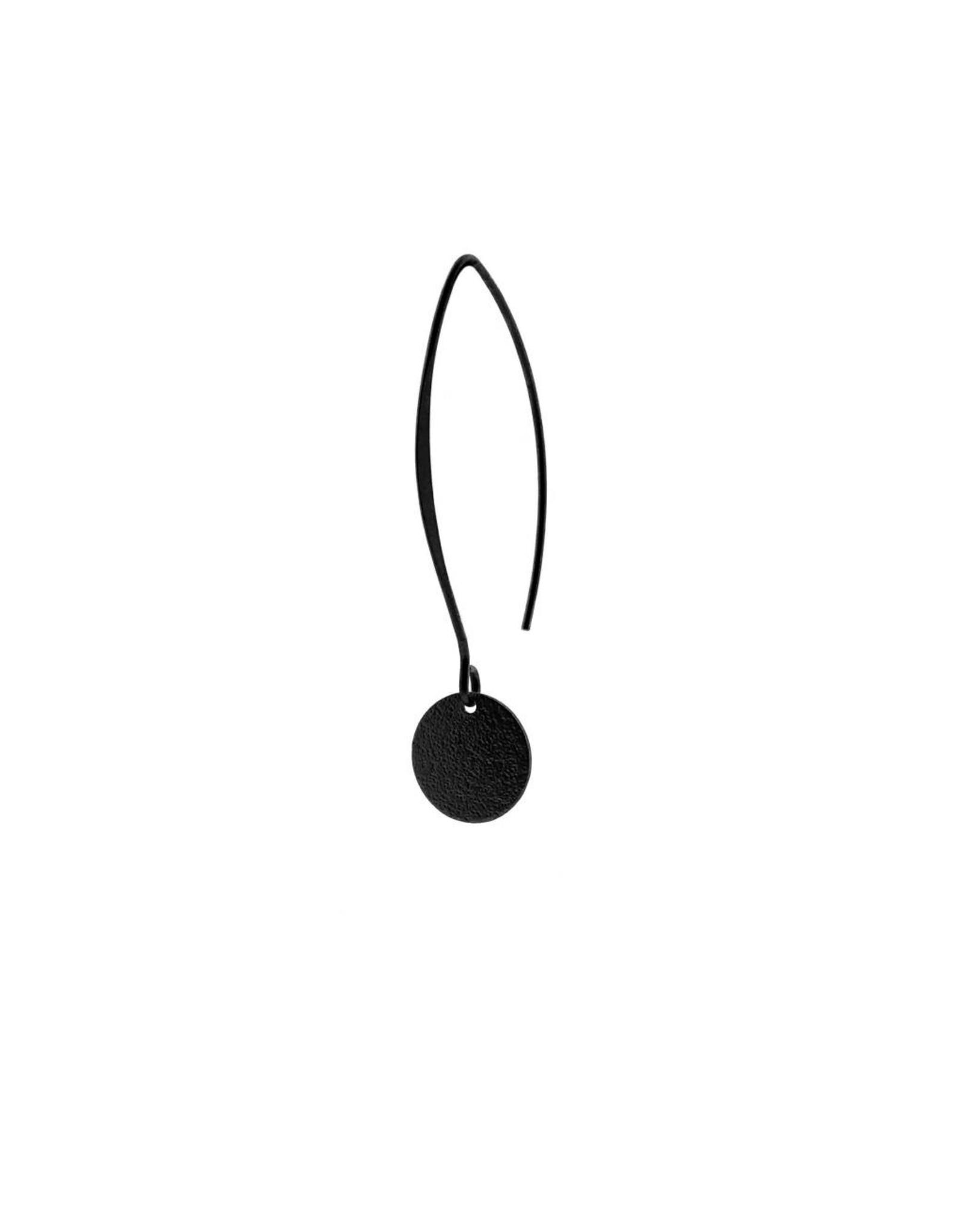 oorbEllen mix&match cirkel klein vol mat zwart lang zwart