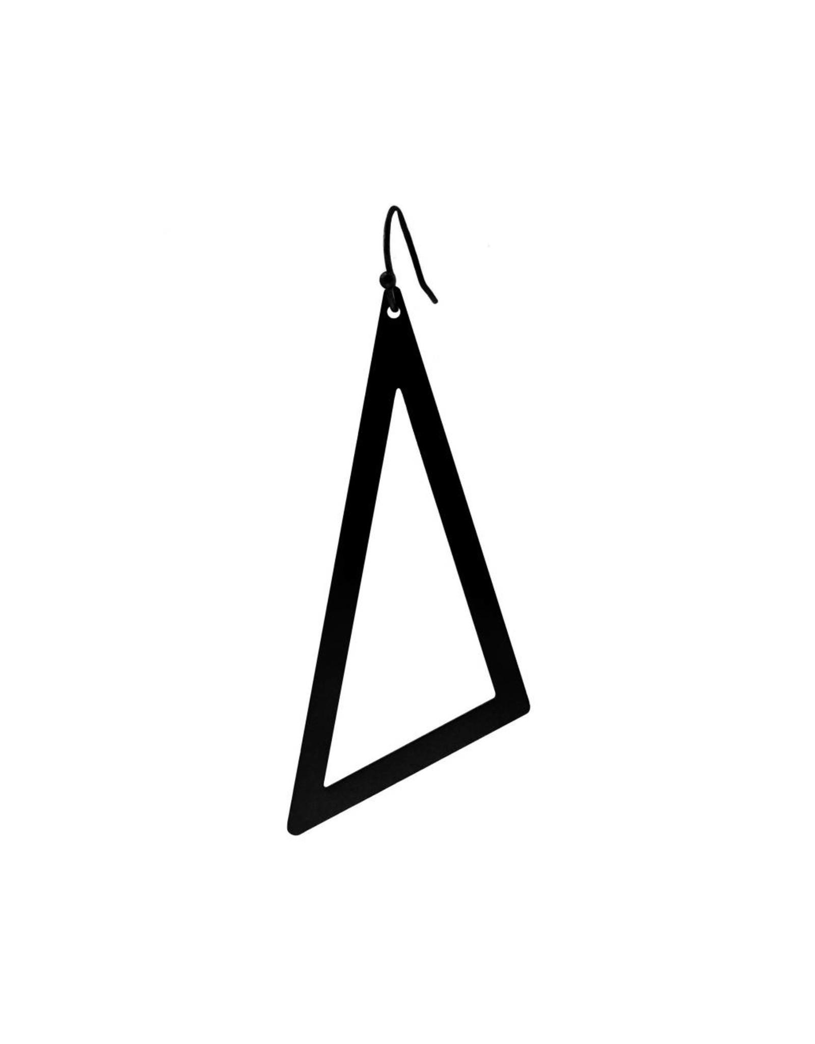 oorbEllen mix&match driehoek XL mat zwart kort zwart