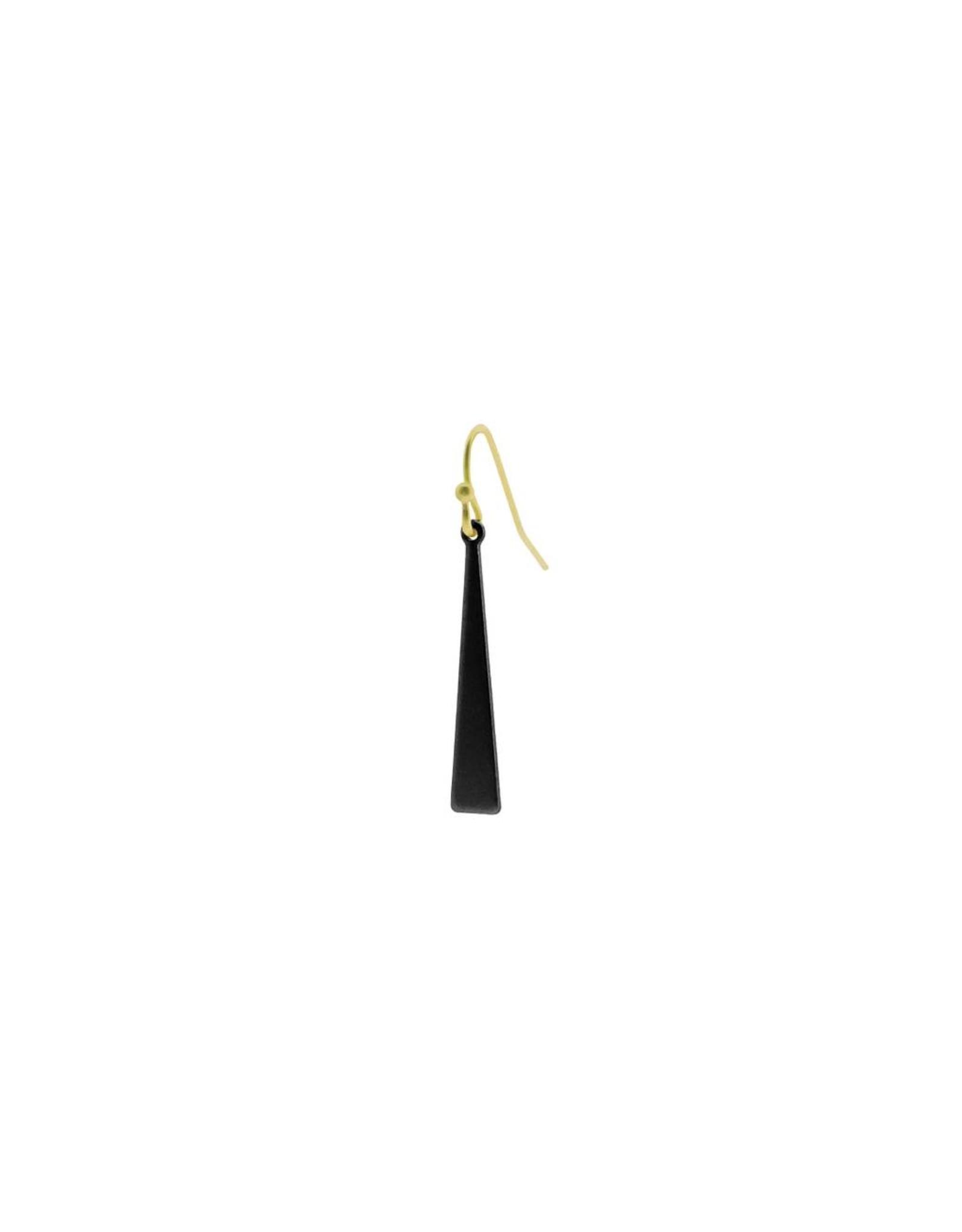 oorbEllen mix&match triangel mini mat zwart kort goud