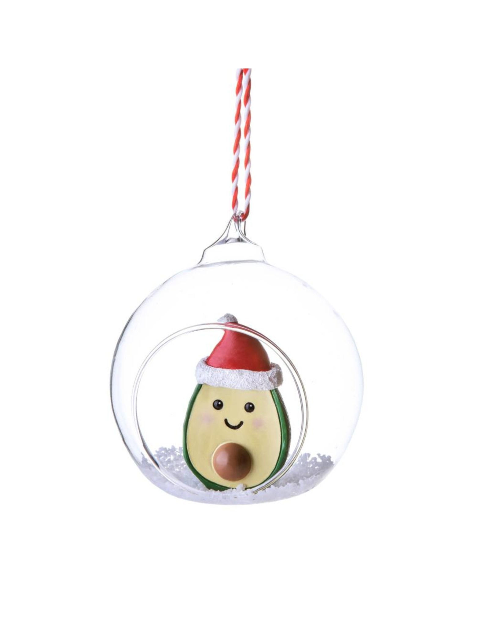 Kerstbal glas avocado