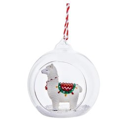 Kerstbal glas lama