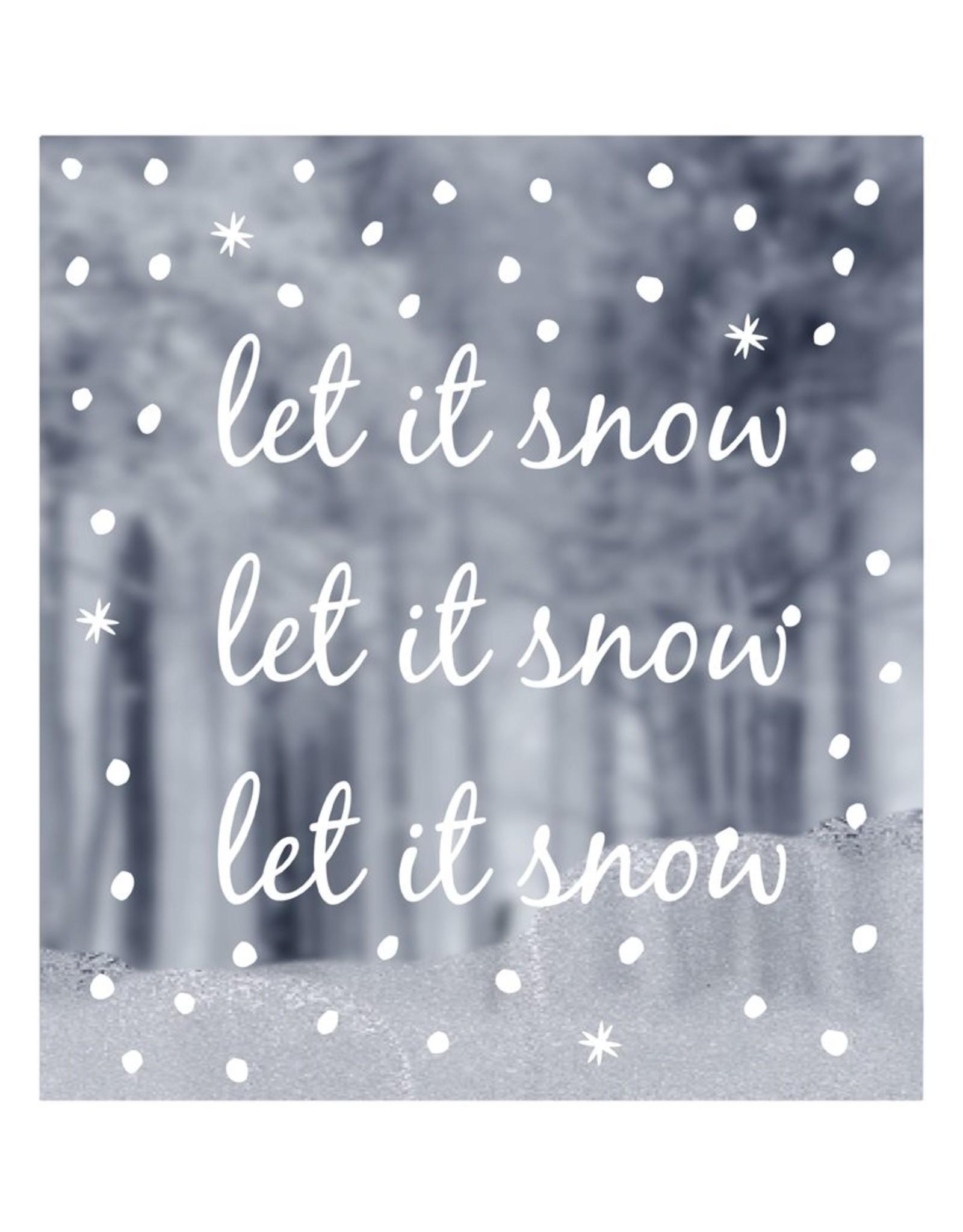 Raamsticker let it snow