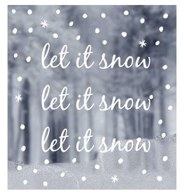 Raamsticker let it snow