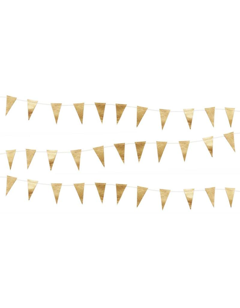 Slinger vlaggetjes goud