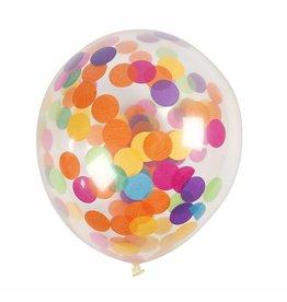 Ballonnen confetti 4st