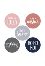 DD: Stickers 5 st. Kerst