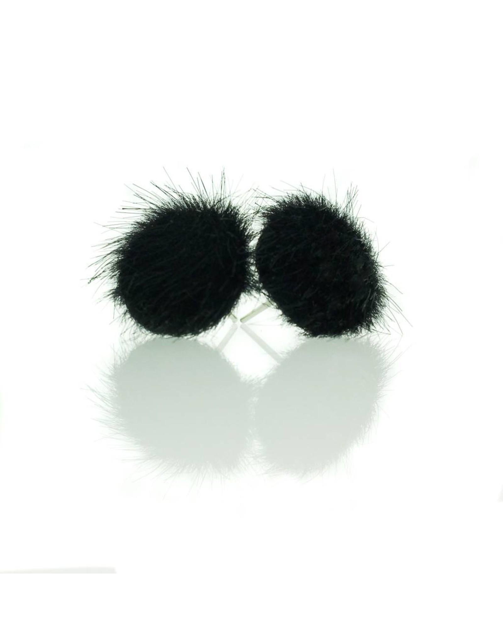 Stekers faux fur zwart