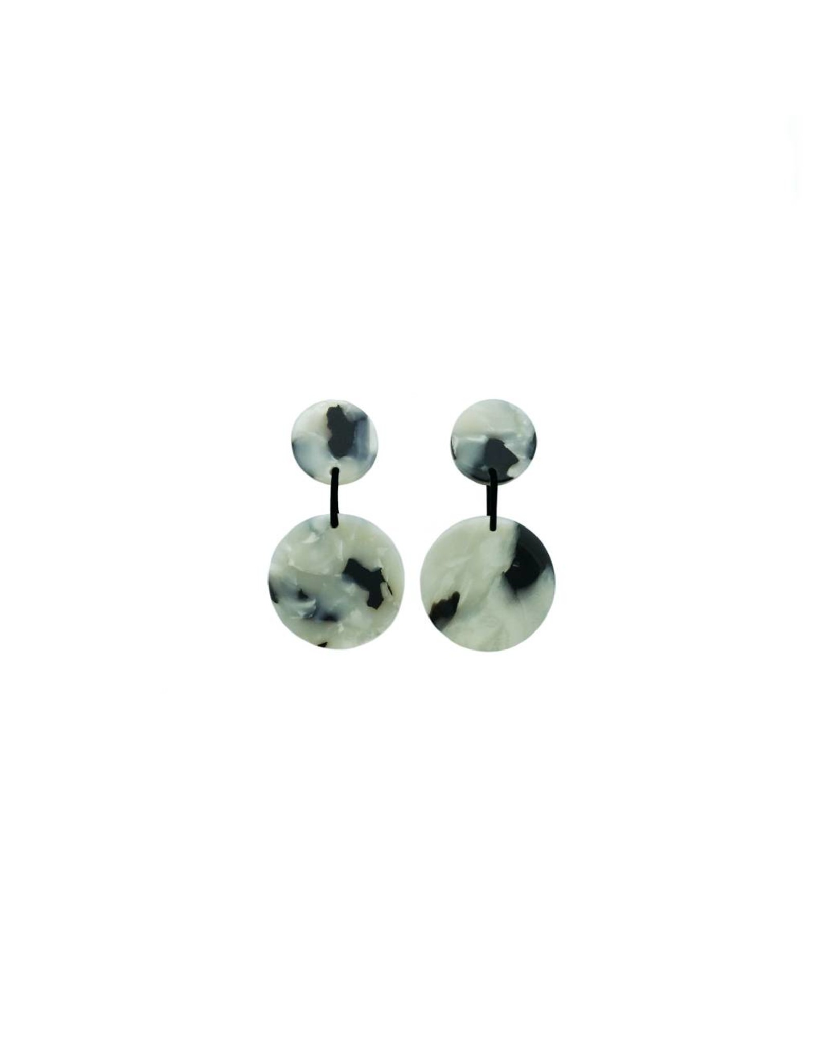 oorbEllen acryl 12mm wit dubbel
