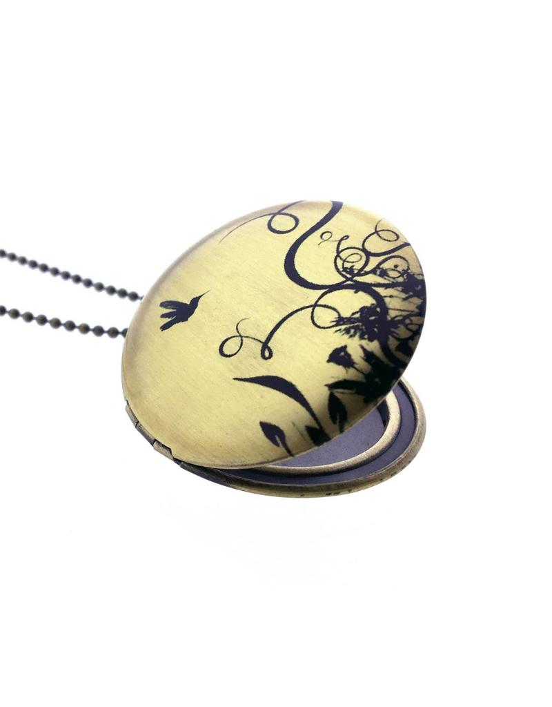 Locket kolibri zwart