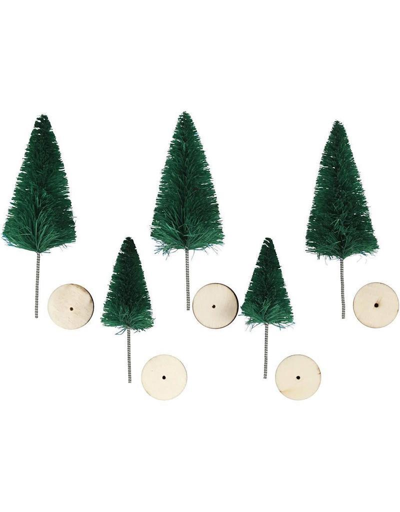 Kerstbomen 5st.