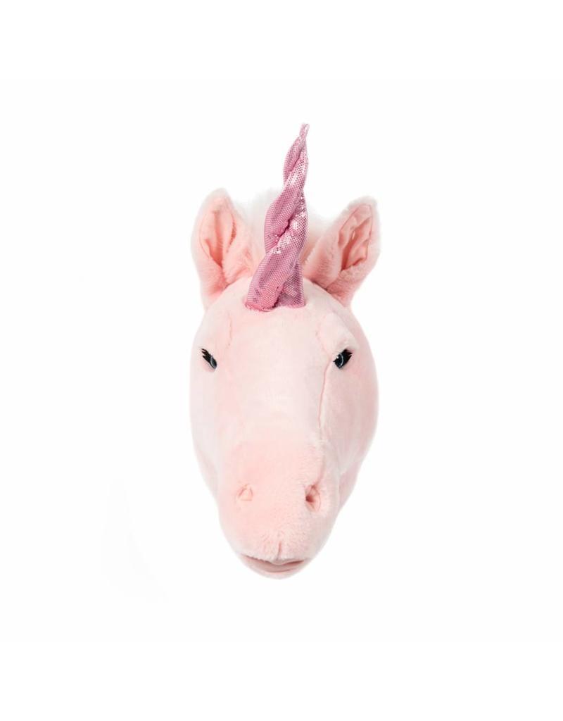 W&S: Dierenhoofd eenhoorn roze Julia