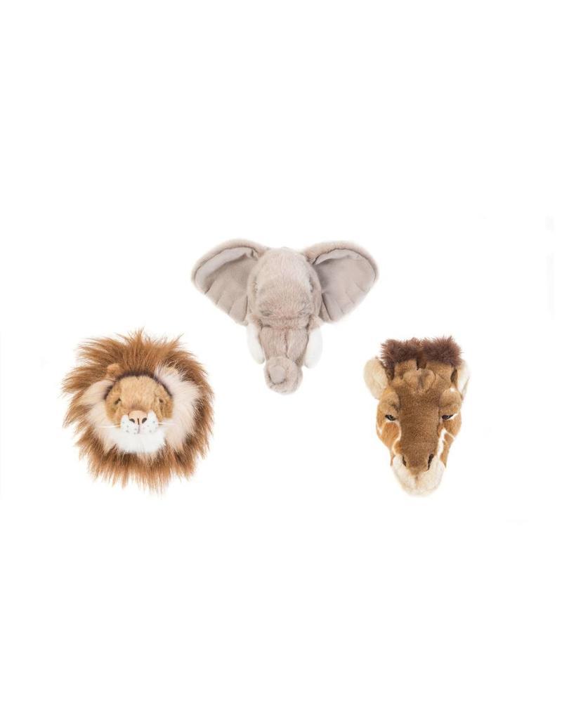 Dierenhoofden klein set van 3 safari