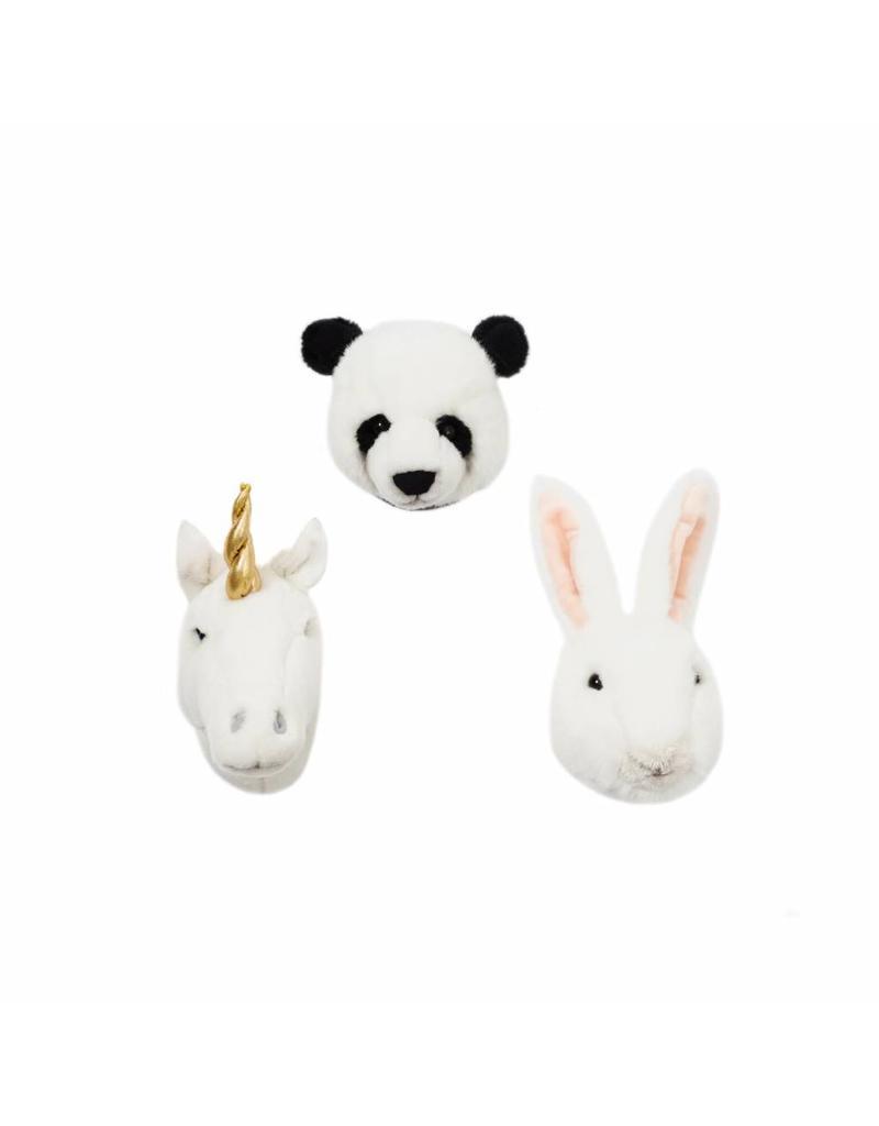 Dierenhoofden klein set van 3 wit