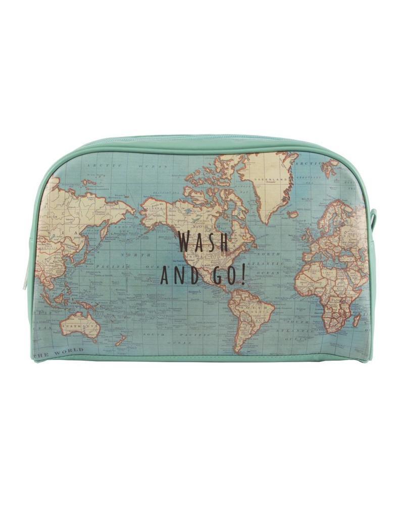 Toiletzak wereldkaart