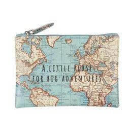 Portemonneetje wereldkaart
