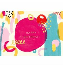 Kaart met enveloppe Happy Birthday