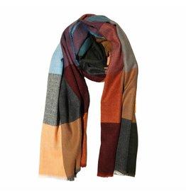 Sjaal groen/blauw/oranje
