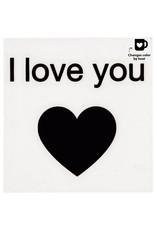 Glas-/porseleinsticker I love you