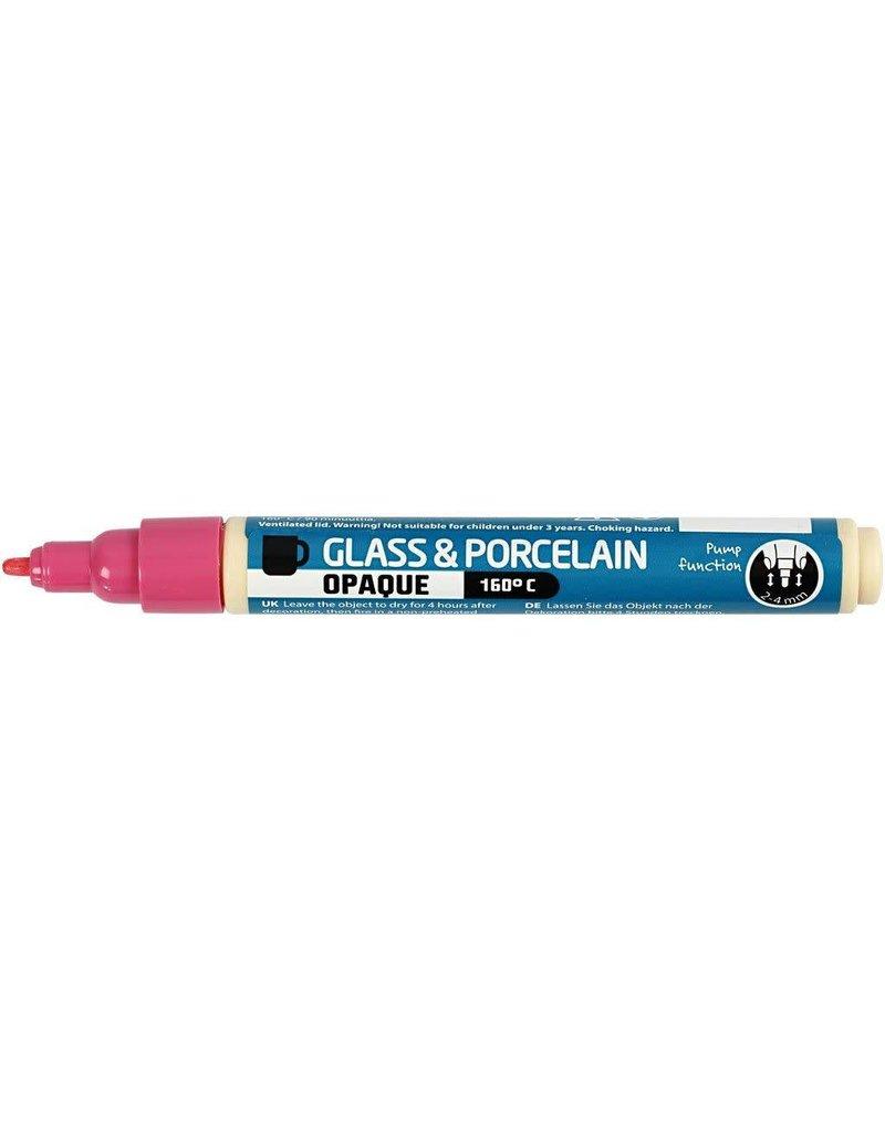 Glas-/porseleinstift roze