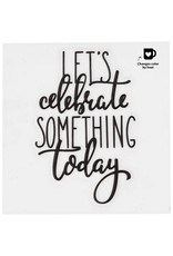 Glas-/porseleinsticker Let's celebrate