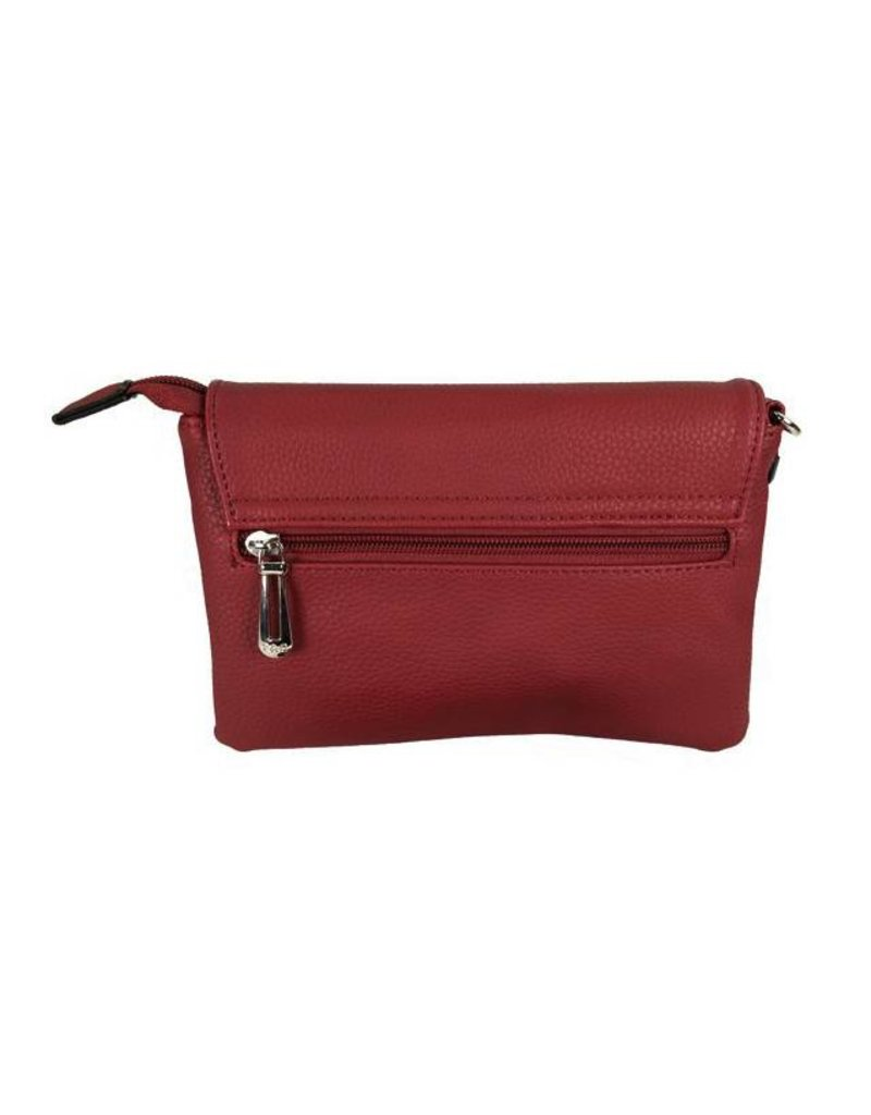 Handtasje/clutch bordeaux