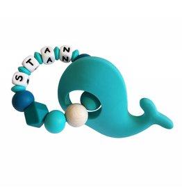 Bijtring siliconen walvis