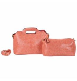 Handtassen zalmroze
