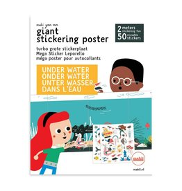 Mega stickerposter WATER