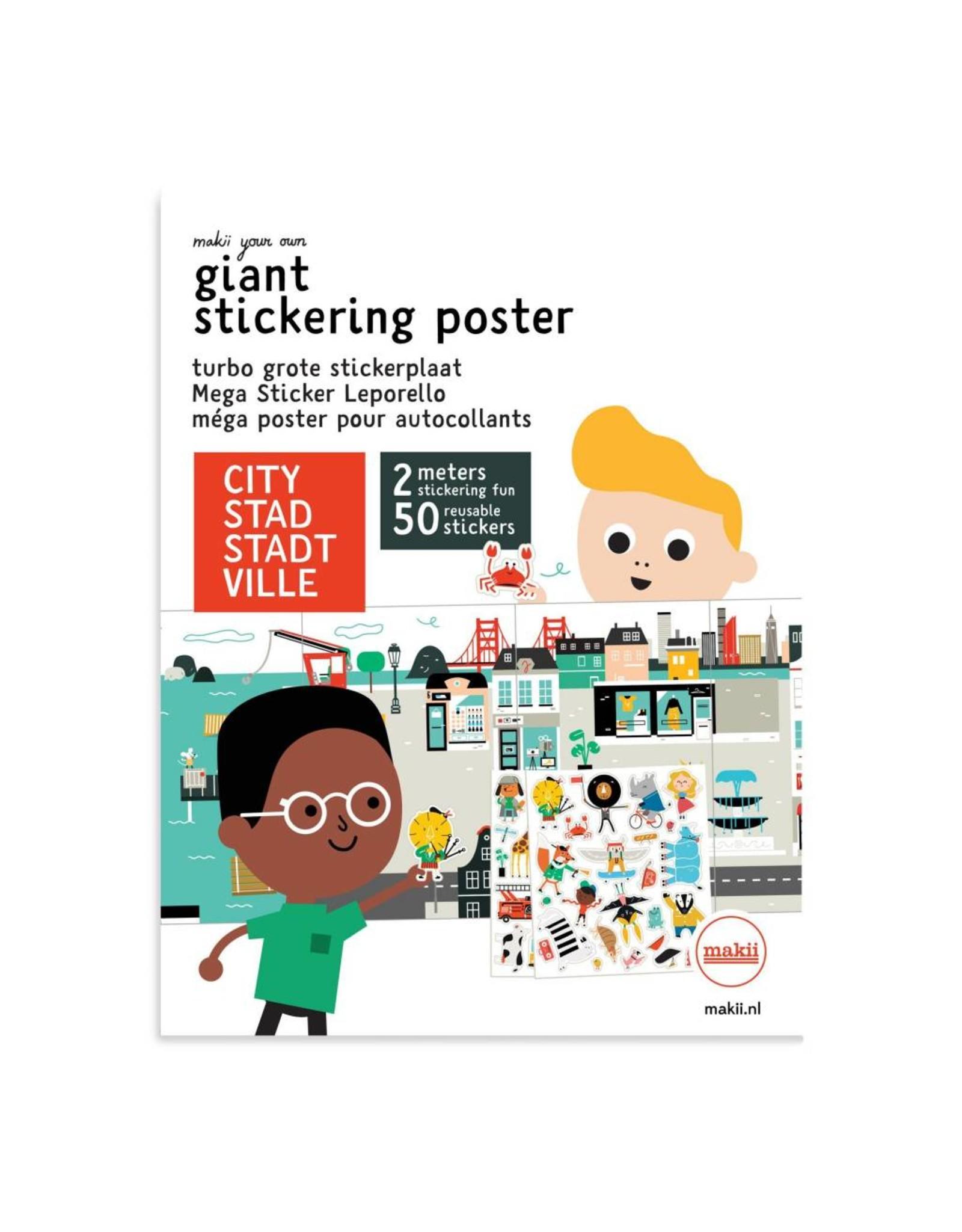 Mega stickerposter STAD