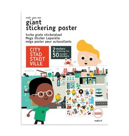 Mega stickerposter STAD