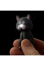 Sleutelhanger LED kat zwart