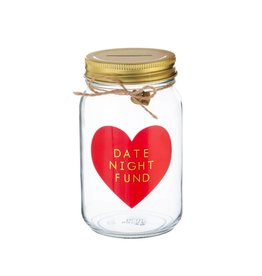 Spaarpot glas Date night