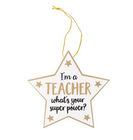 "Hangertje ""I'm a teacher, what is your superpower"""