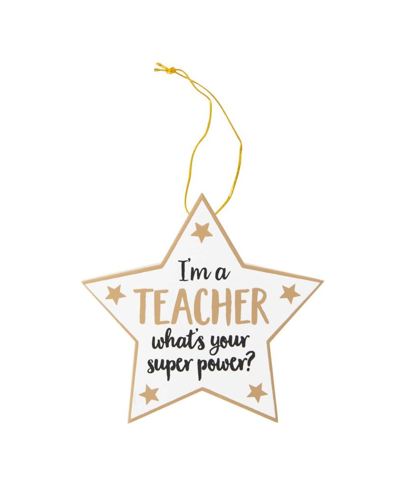"""Hangertje """"I'm a teacher, what is your superpower"""""""