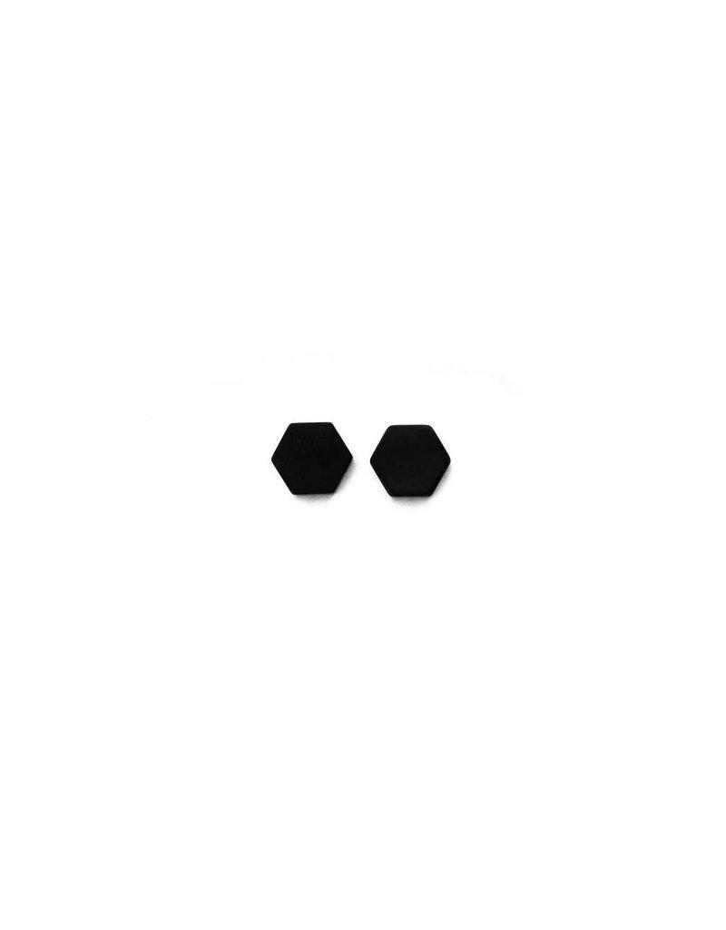 Stekertjes zwart zeshoek 8mm