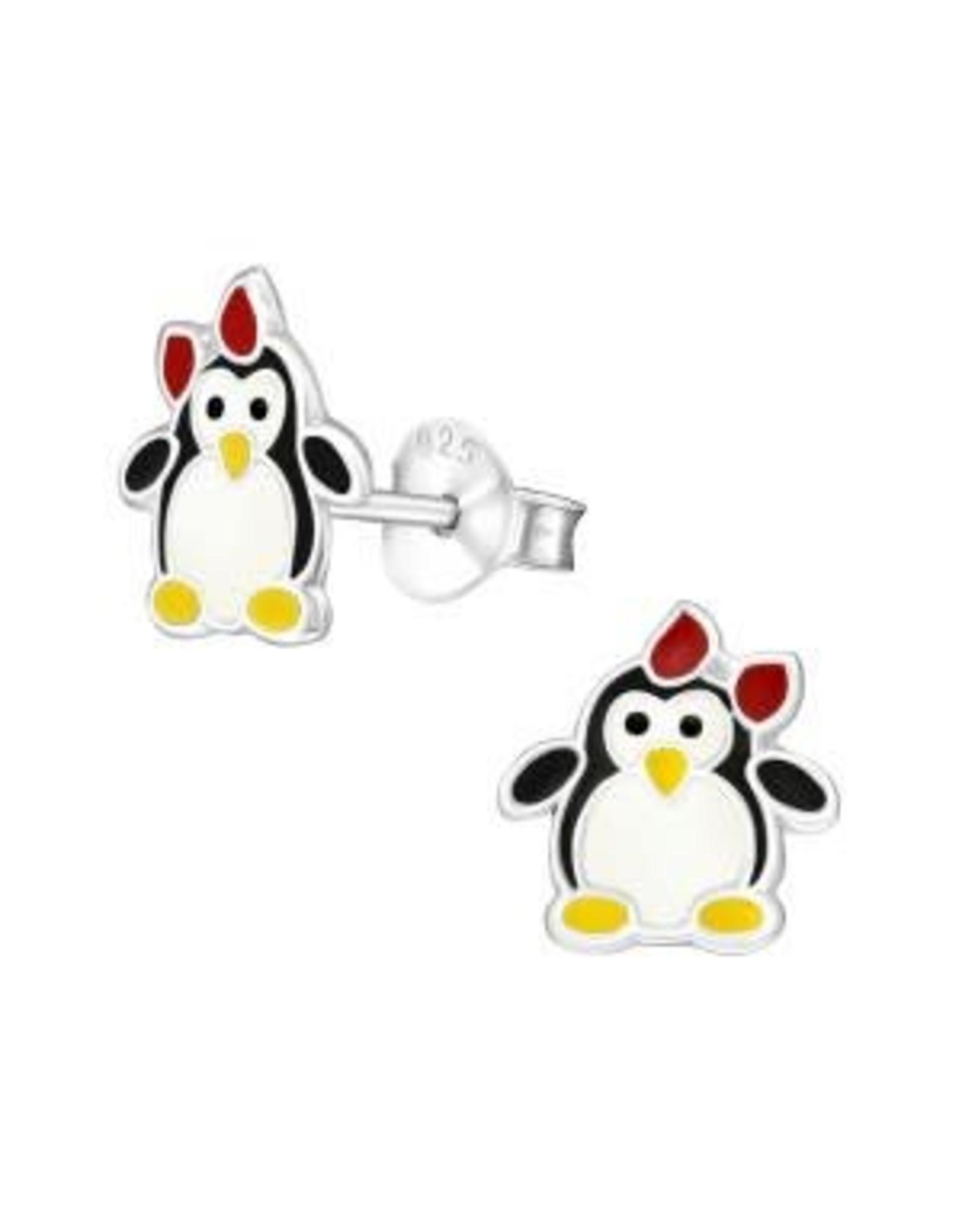 Stekertjes zilver pinguïn strik