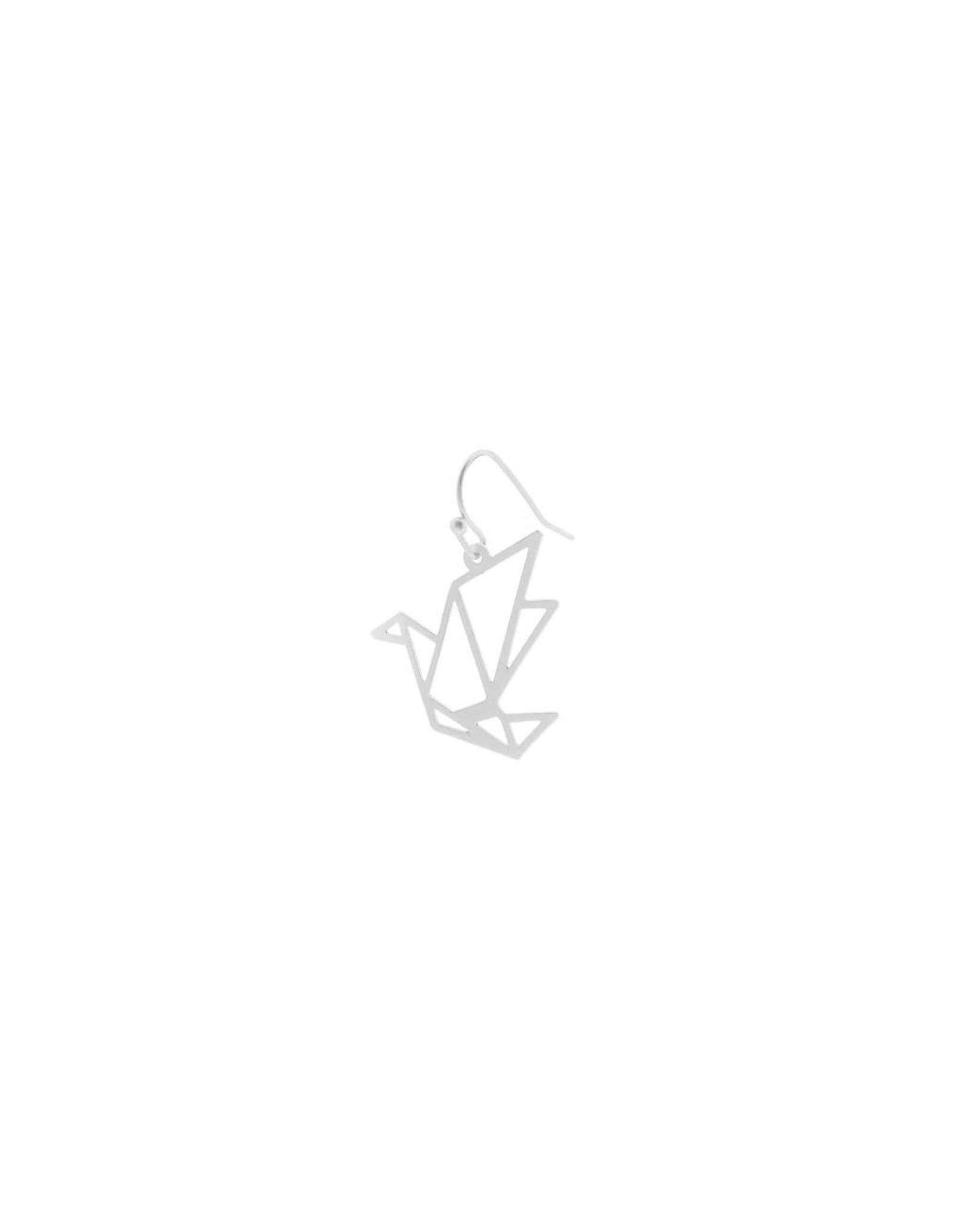 oorbEllen mix&match kraanvogel mat zilver