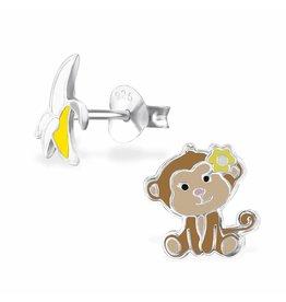 Stekertjes zilver aap & banaan geel